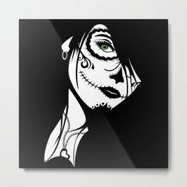 Sugar Skull Design - by Leo Metal Print