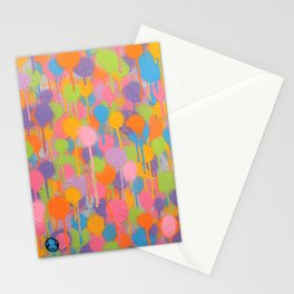 Floating In A Festival Of Candy Colored Balloons Or Swimming In A Sea Of Psychedelic Jellyfish Stationery Cards