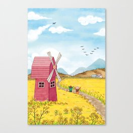 Outdoor Playing Children Canvas Print