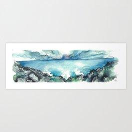 Camino Finisterre - El fin del mundo Art Print