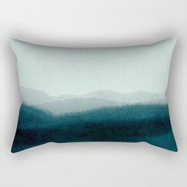 morning mist scenery Rectangular Pillow