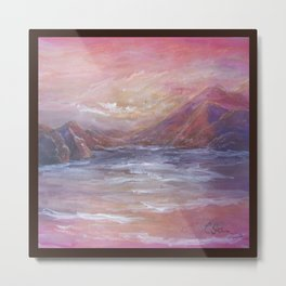 Landscape in Pink MM150601 Metal Print