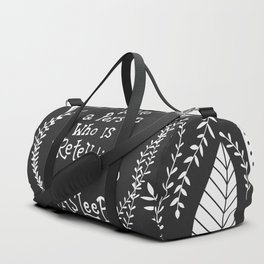 You can not wake a person who is pretending to be asleep inspirational, B&W Duffle Bag