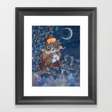 Owl mother Framed Art Print