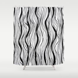 BLACK STRIPES Shower Curtain