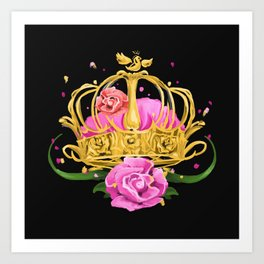Queen crown Art Print