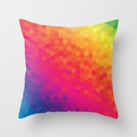 honeycomb Throw Pillows featuring honeycomb by snja