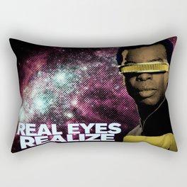 Geordi: Real Eyes Realize Rectangular Pillow