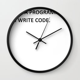 I write code Wall Clock