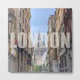 London - view of St Paul's Cathedral Metal Print