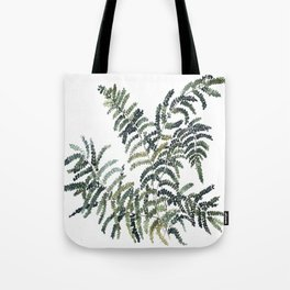 Woodland Fern Botanical Watercolor Illustration Painting Tote Bag