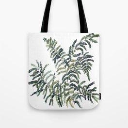 Woodland Fern Botanical Watercolor Illustration Painting Tote Bag