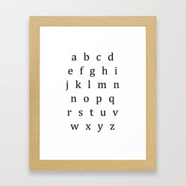 Classic Alphabet Lowercase Sign Framed Art Print