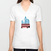england V-neck T-shirts featuring London, England by Milli-Jane