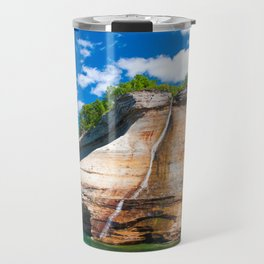 Bridal Veil Falls: Upper Peninsula of Michigan Travel Mug