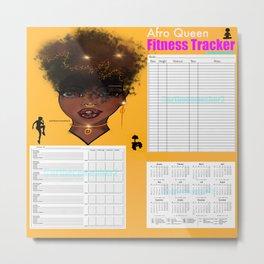 2020 2020 Afro Queen Fitness & Wellbeing Tracker Metal Print