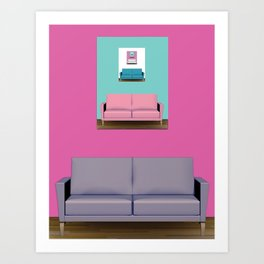 Couch Roomed Art Print