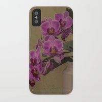 orchid iPhone & iPod Cases featuring Orchid by Steve Purnell