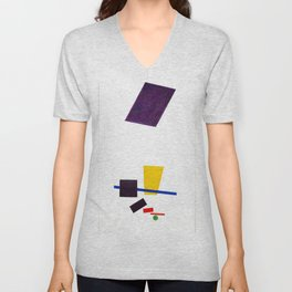 Kazimir Malevich - Painterly Realism of a Football Player—Color Masses in the 4th Dimension (new edi Unisex V-Neck