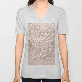 Blush Glitter Dream #4 #shiny #decor #art #society6 Unisex V-Neck