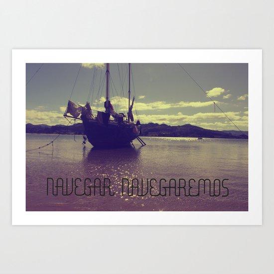 Palabras ( words ) sail , sail  Art Print