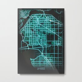 Surrey BC Canada City Map Metal Print