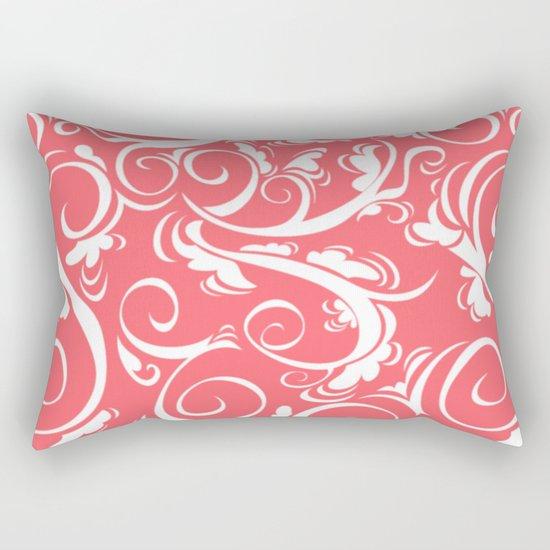 Floral Coral Rectangular Pillow