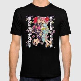Madoka and Homura in Yukata dress T-shirt