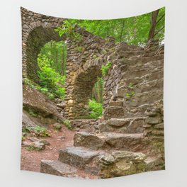 Forest Castle Ruins Wall Tapestry