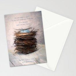 Bird Nest 4 Stationery Cards