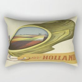 Vintage poster - Holland Rectangular Pillow