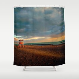 Bay-Watch Tower  Shower Curtain