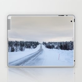 Icy Road in Finland Laptop & iPad Skin