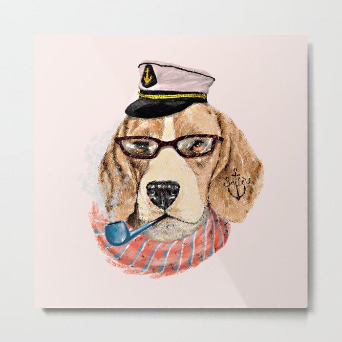 Mr.Beagle Metal Print