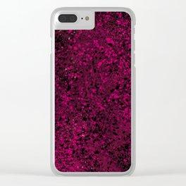 Raspberry Crumble Clear iPhone Case