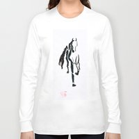 horse Long Sleeve T-shirts featuring Horse  by sarah mah