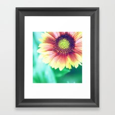 Fantasy Garden - Sunny Flower Framed Art Print