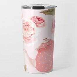Pink Teacup Travel Mug