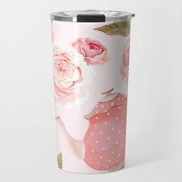 Pink Teacup Travel Mug
