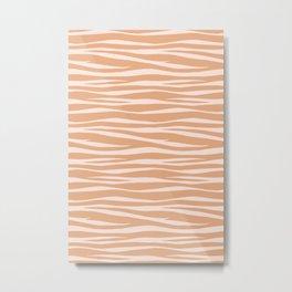 Zebra Print - Toffee Caramel Metal Print
