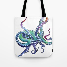 Rainbow Octopus Tote Bag