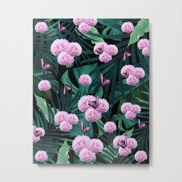 Tropical Peonies Dream #1 #floral #foliage #decor #art #society6 Metal Print