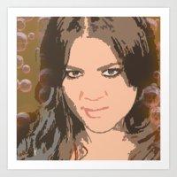 kardashian Art Prints featuring Khloe Kardashian by D Arnold Designs