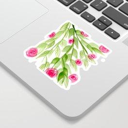 Pink Rosebuds in Watercolor Sticker