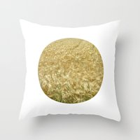 catcher in the rye Throw Pillows featuring soft rye field II by blackpool
