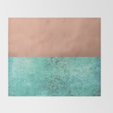 NEW EMOTIONS - ROSE & TEAL Throw Blanket