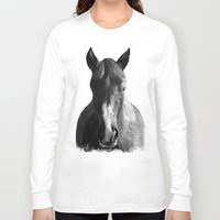 horse Long Sleeve T-shirts featuring Horse by Amy Hamilton