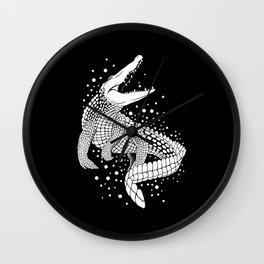 White crocodile Wall Clock