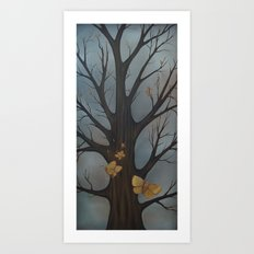 Tree Moths Art Print