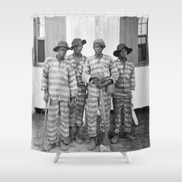 Southern Chain Gang Photo - 1903 Shower Curtain